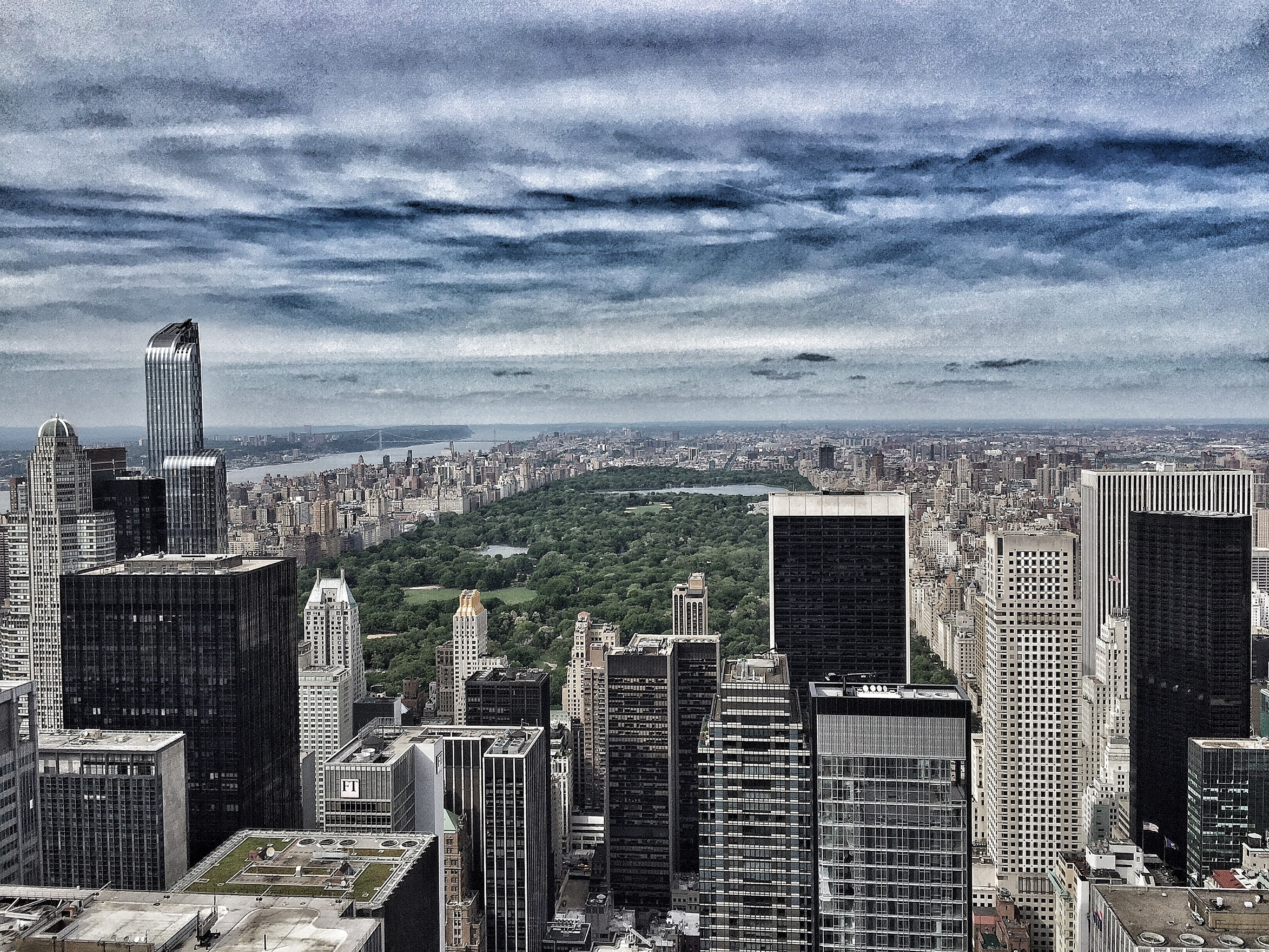 Empire State from the Top of the Rock, NYC